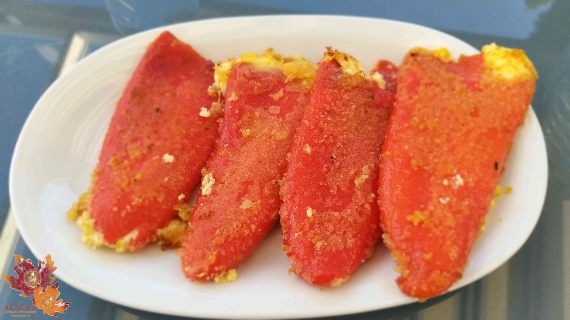 Gegrilde paprika gevuld met feta (Bulgaars)